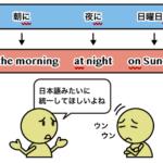 日付・時間を表す前置詞 at, in, on の違い