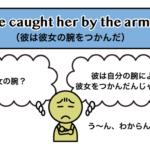 catch+人+by the arm が「人の腕をつかむ」という意味になる理由