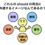 助動詞 should のイメージと意味・用法まとめ